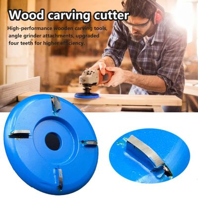 Wooden Carving Cutter Angle Grinder Woodworking Turbo Plane Milling Cutter Tool Accessories