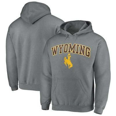 Fanatics Branded Wyoming Cowboys Campus Pullover Hoodie - Charcoal