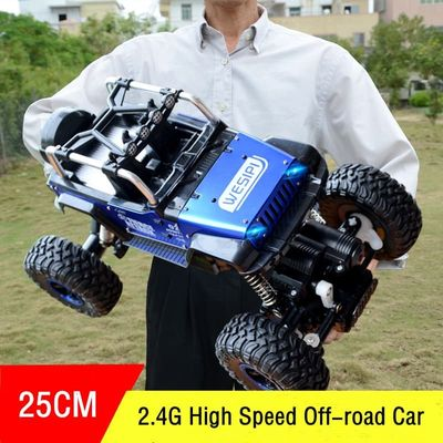 2.4G RC Car High Speed Electric 4CH Hummer Rock Crawlers Racing Car Off-Road Vehicles Buggy Toy With Light Kids Boys Gift