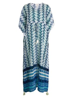 Beach Lunch Lounge Willow Tie-Dye Coverup Dress