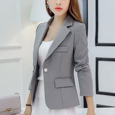 Season Self-cultivation Loose Coat Short Long Sleeve Show Thin And Small Suit Woman Blazer Feminino Fashion Maternity