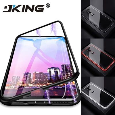 Metal Magnetic Adsorption Glass Case For Oneplus 7 Pro 6 6T 5T One plus Phone Case Magnet Protective Cover Capa Coque