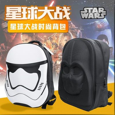 Star Wars 3D Cartoon Backpack Black Samurai White Soldier Double Shoulder Backpack Computer Bag Fashion City Jogging Bags