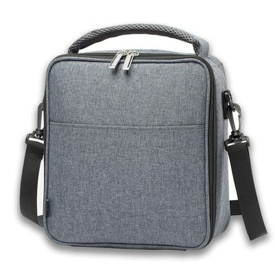 Heopono Fitness Polyester Aluminum Zippered Cooler Box Fashion Nice Design Crossbody Thermal Lunch Bag