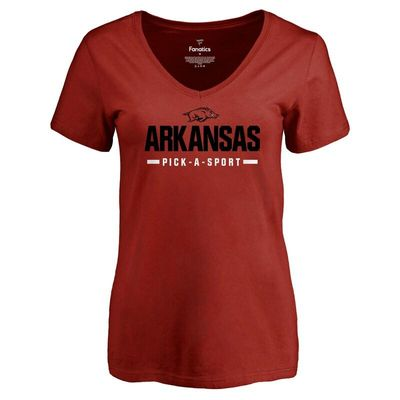 Arkansas Razorbacks Women's Custom Sport V-Neck T-Shirt - Cardinal
