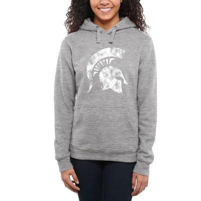 Michigan State Spartans Women's Classic Primary Pullover Hoodie - Ash