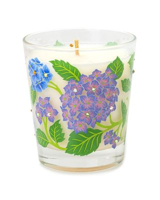 Jay Strongwater Gwp Hydrangea Votive Candle