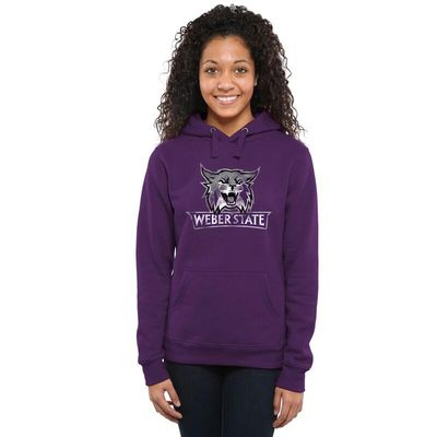 Weber State Wildcats Women's Classic Primary Pullover Hoodie - Purple