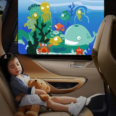 2pcs Universal Cartoon Magnetic Car Side Window Auto Sunshades Curtain UV Protection Visor Car Styling Cover Seat for Baby Kids