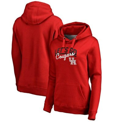 Houston Cougars Women's Let's Go Pullover Hoodie - Red