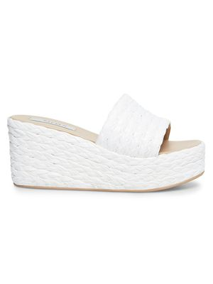 Steven by Steve Madden Chance Raffia Wedge Sandals
