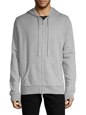 ZADIG & VOLTAIRE Moss Zip-Up Cotton-Blend Hoodie