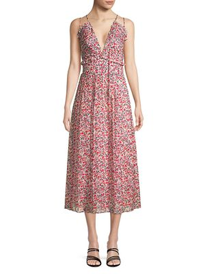 Robert Rodriguez Cayana Pleated Midi Dress