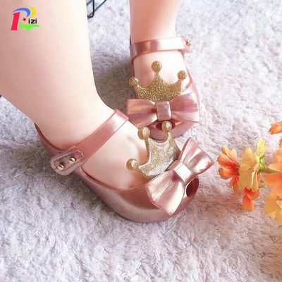 Mini Melissa Girls Sandals 2019 Summer Mickey & Minnie Twins Pattern Shoes Jelly Shoe Sandals Girl Non-slip Kids Sandal Toddler