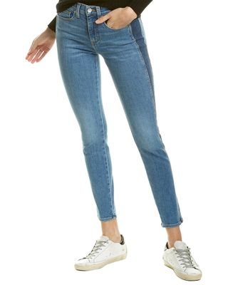 Veronica Beard Kate Two Tone High-Rise Skinny Leg