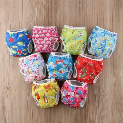 Infant Baby Swim Nappies Reusable Newborn Swimwear Baby Swimsuit 2018 Boy Girls Bathing Suit Adjustable Swim Diapers For Babies