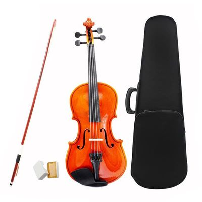 Dropship-Size 1/2 Natural Violin Basswood Steel String Arbor Bow for Kids music lovers Beginners Violin set with Rosin