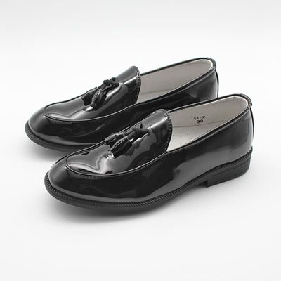 Children Kids Boys Shoes Boys Slip On Formal Patent Faux Leather Loafers Boys Dress Shoes Tassel Wedding Shoes
