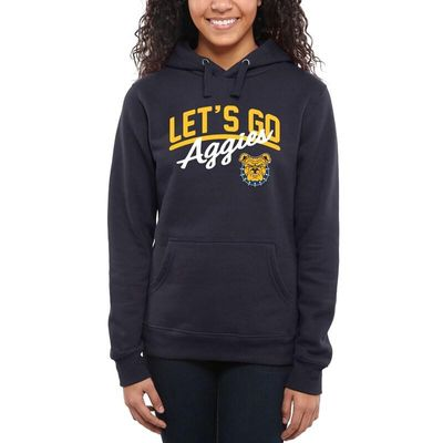 North Carolina A&T Aggies Women's Let's Go Pullover Hoodie - Navy