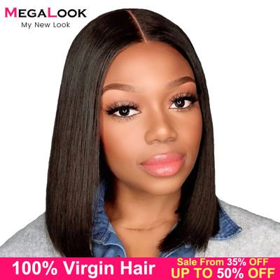 Closure wig Short Wig Bob Human Hair 4x4 13x4 Remy Megalook Human Lace Wigs Virgin Hair Wigs Straight Lace Front Wig Bob Wigs