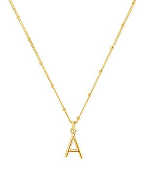 Sterling Forever Initial Pendant Necklace