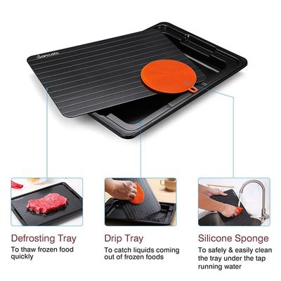 Newly Fast Defrosting Tray with Cleaner Frozen Meat Defrost Food Thawing Plate Board Kitchen Tool MK