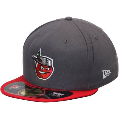 Fort Wayne Tincaps New Era Authentic 59FIFTY Fitted Hat - Graphite/Red