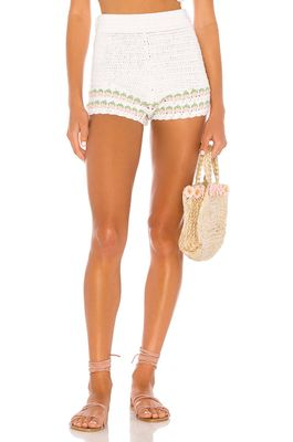 Lovers + Friends Mes Amis Crochet Shorts