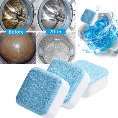 4 tablets Washing Machine Cleaner Washer Cleaning Detergent Effervescent Tablet Washer Cleaner Household Cleaning Chemicals