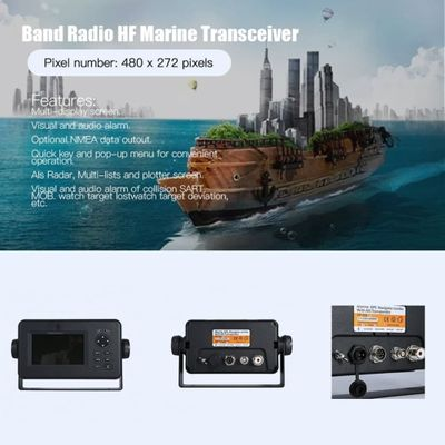 Professional High Sensitivity Matsutec 4.3 Inch LCD Display AIS Transponder Combo Marine GPS Navigator Marine Transceiver HP528A