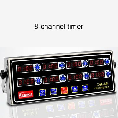 Commercial eighth 8 channel key kitchen timer Digital button timing reminder Restaurant loud Alarm Countdown Hamburger shop
