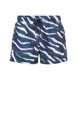 HUGO BOSS - Quick Dry Swim Shorts With Abstract Tiger Pattern