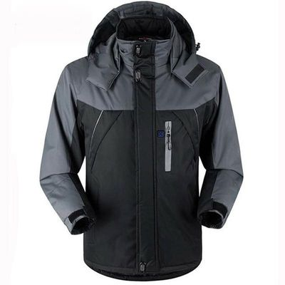 Unisex Winter Outdoor Intelligent USB Work Hooded Heating Jacket Coats Adjustable Temperature Control Safety Clothing DSY0010
