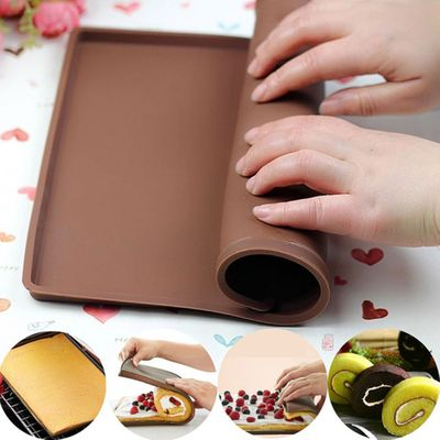 1pcs Nonstick Baking Pastry Tools Silicone Baking Rug Mat Silicone Mold Swiss Roll Mat Cake Pad Baking Tool Kitchen Accessories