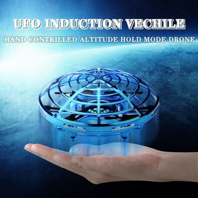 Mini Anticollision Sensor Induction Hand Controlled Altitude Hold Mode Ufo Drone Stranger Things Toys For Children#p5