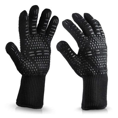 Heat Resistance BBQ Grill Glove Silicone Non-stick Easily Clean Corrosion Resistance Dustproof Barbeque Barbecue Grill BBQ Tools