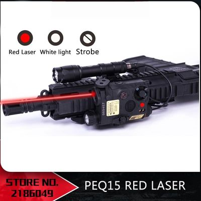 NEW- Tactical Airsoft  Flashlight PEQ15 Red Laser LA-5C UHP  LED IR Laser LA5 softair tactical peq light Strobe