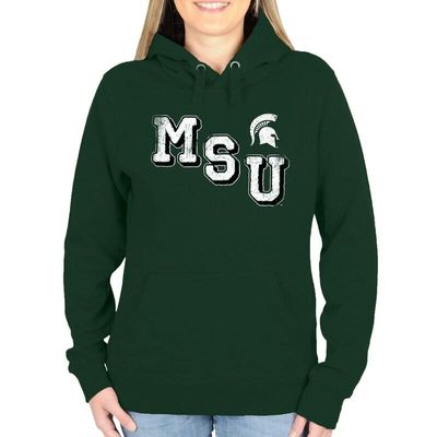 Michigan State Spartans Women's Acronym Pullover Hoodie - Green