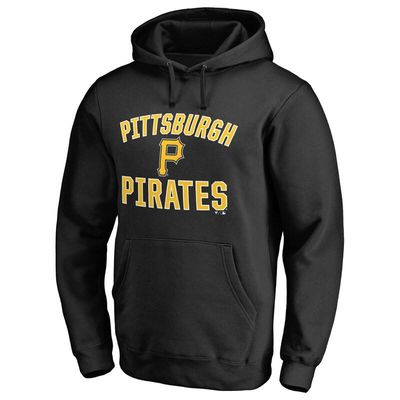 Pittsburgh Pirates Victory Arch Pullover Hoodie - Black