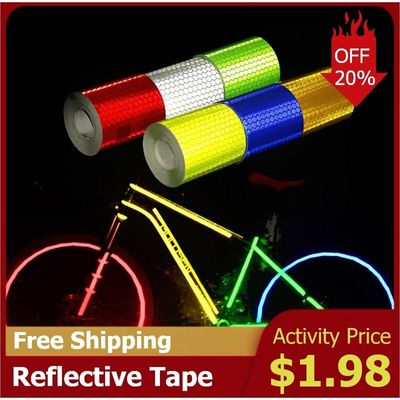 5cmx3m Car Reflective Material Tape Sticker Automobile Motorcycles Safety Warning Tape Reflective Film Car Stickers Car-Styling