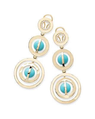 IPPOLITA Senso 18K 0.44 ct. tw. Diamond & Turquoise Earrings