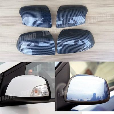 Carbon Fiber Look Mirror Cover For Ford Focus Mk2 2005 2006 2007 2008 Replacement Style Rear View Mirror Cover