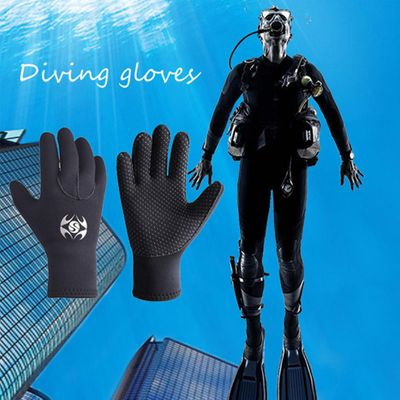 3MM Neoprene Cold-proof Winter Swimming Scuba Dive Snorkeling Diving Gloves Equipment Underwater warmth Winter Swim Spearfishing