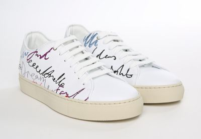 Paul Smith Men's White Sneaker Dream Script