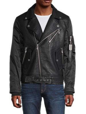 Cult Of Individuality Faux Leather Biker Jacket
