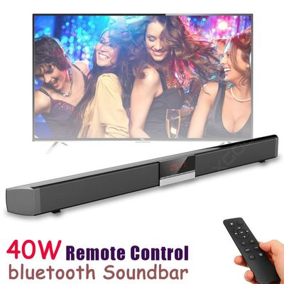 Wireless bluetooth Soundbar Speaker 40W Home Wall-mounted Home Theater TV AUX Coaxial LED Display Subwoofer Speakers