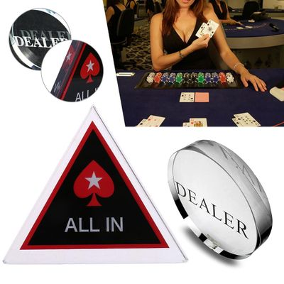 1PC Acrylic Button Pressing Poker Cards Guard Poker Button Texas Hold'em All In Chip Poker Chips