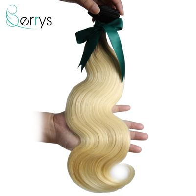 Berryshair 10A Brazilian Human Hair Dark Root Bundles Body Wave 1B/613 Blonde Hair 1/3/4 PCS Virgin Hair Extensions 10-26 Inch