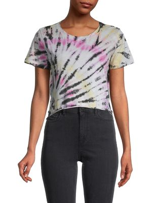 Prince Peter Collections Spiral Tie-Dye Cropped T-Shirt