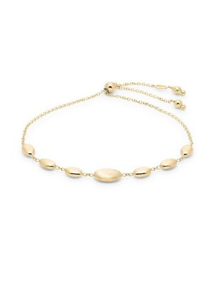 Saks Fifth Avenue Made in Italy 14K Yellow Gold Oval Pendant Bracelet